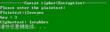 1 - 凯撒密码(Caesar Cipher)