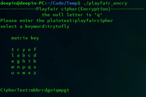encryption 3 - Playfair密码(Playfair Cipher)